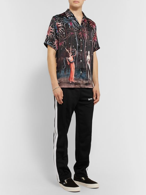 Endless Joy Paradise Lost Camp-Collar Printed Silk Shirt