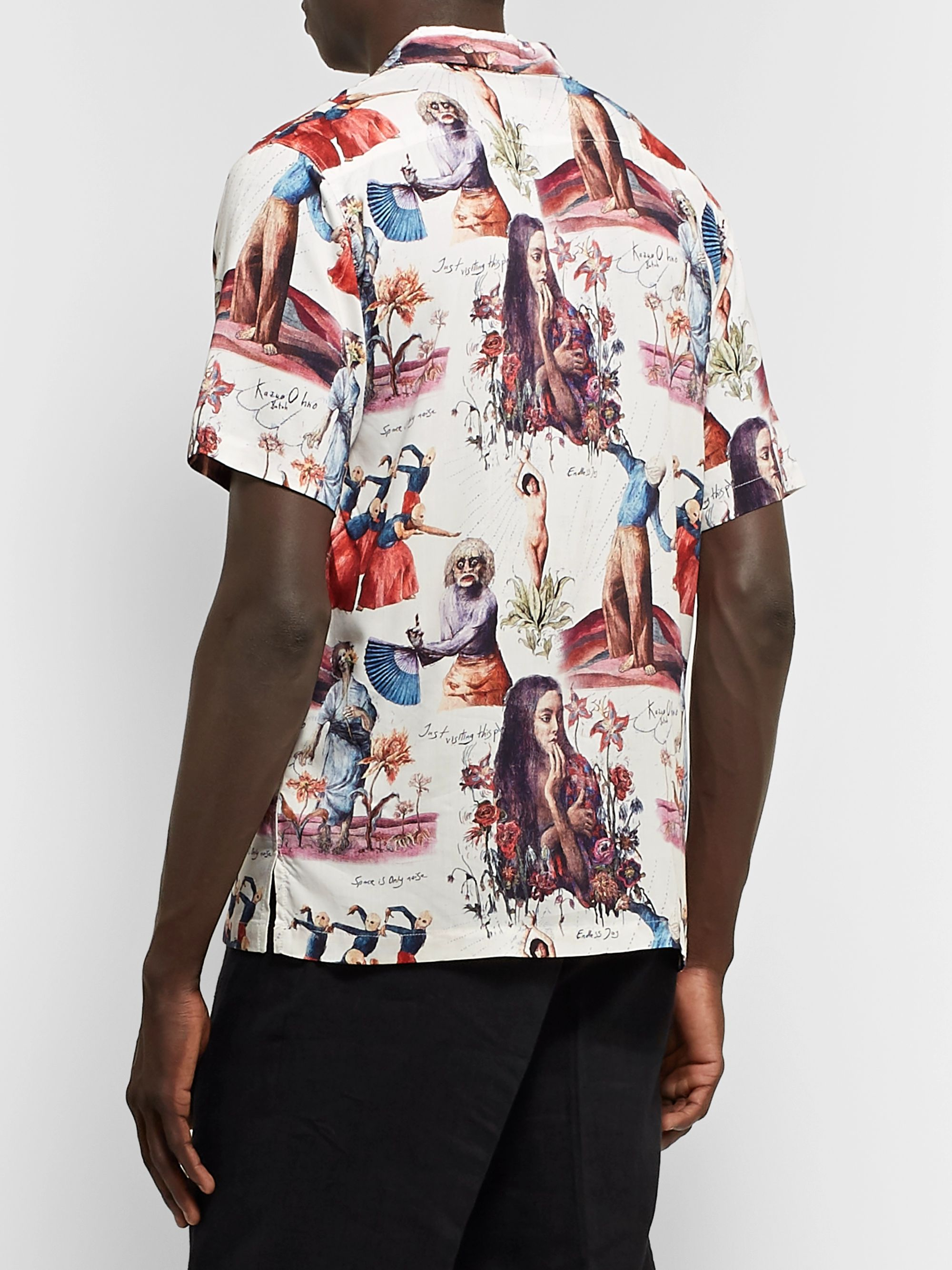 Endless Joy Butoh Camp-Collar Printed Woven Shirt