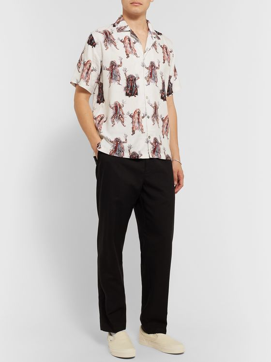 Endless Joy Rangda Camp-Collar Printed Woven Shirt