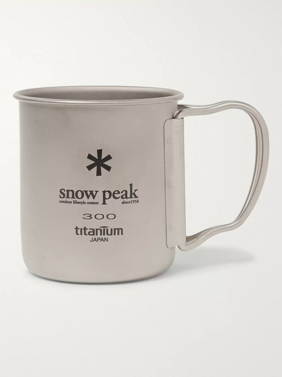 Snow Peak Logo-Print Stainless Steel Mug