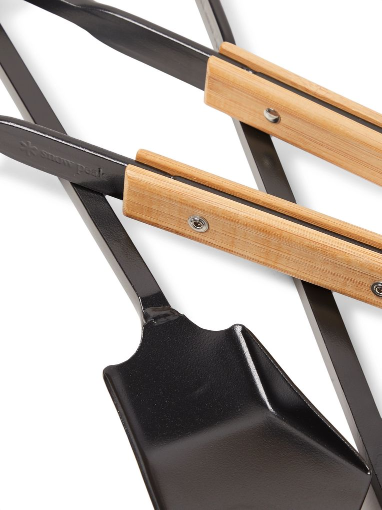 Snow Peak Three-Piece Steel and Bamboo Fire Tool Set