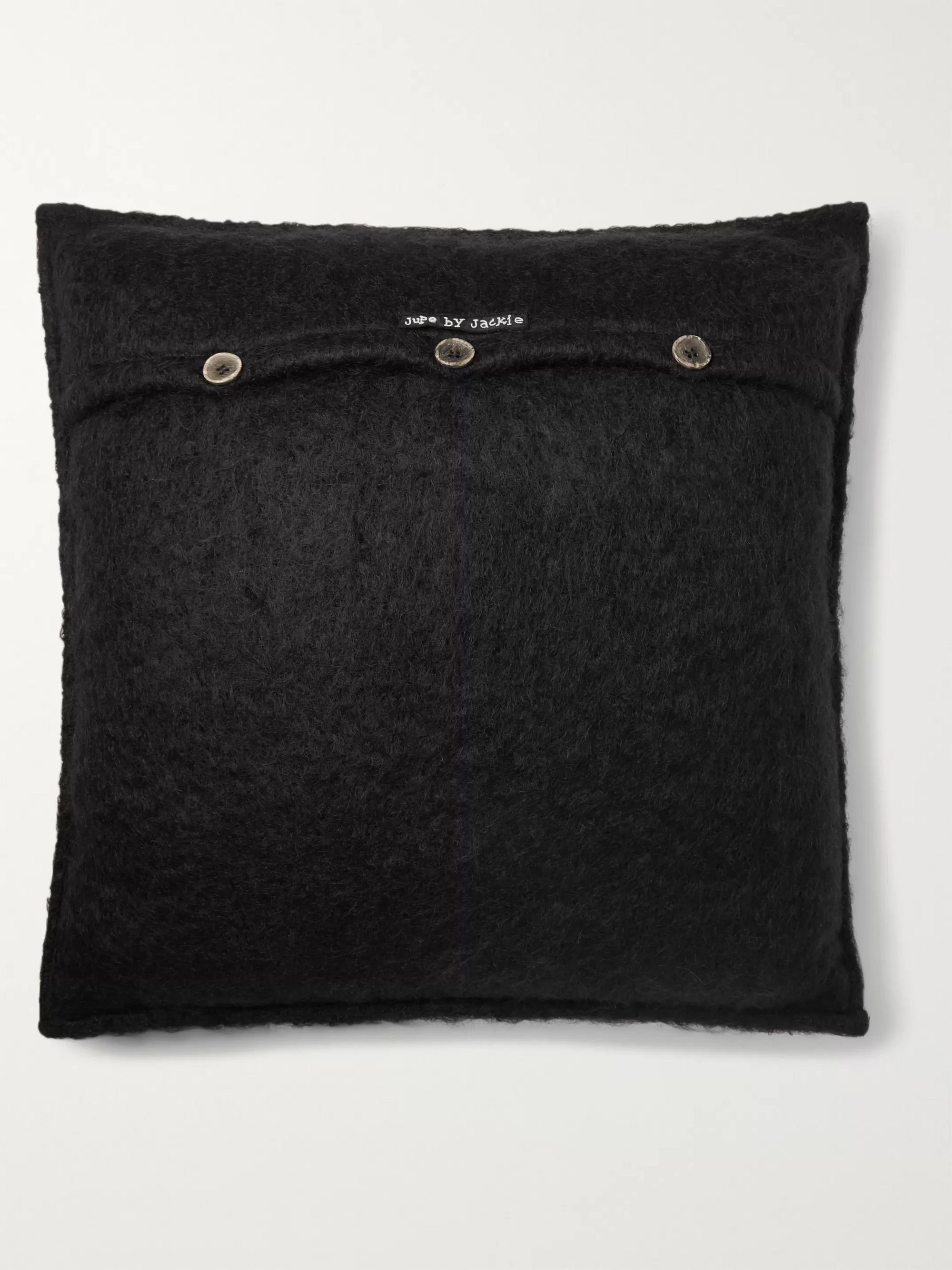 Jupe by Jackie Hocken Embroidered Mohair Cushion Cover