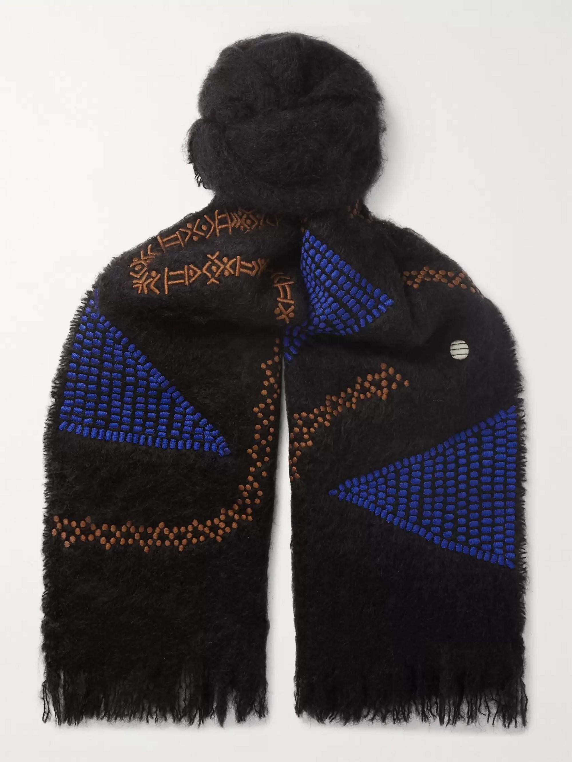 Jupe by Jackie Embroidered Mohair Scarf
