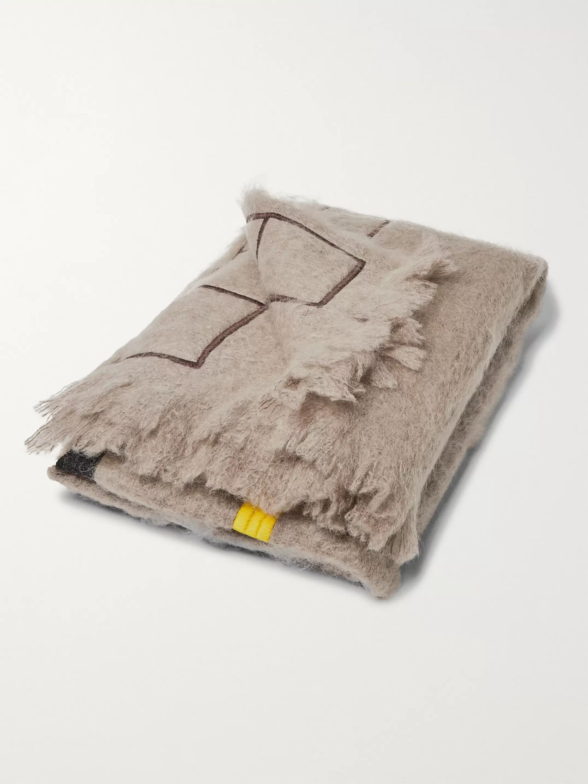 Jupe by Jackie Settler Fringed Embroidered Mohair Blanket