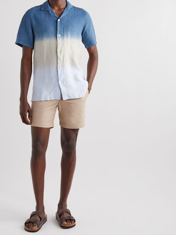 Club Monaco Baxter Cotton-Blend Twill Shorts