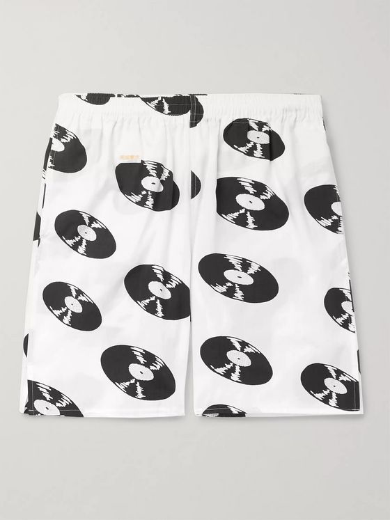 Wacko Maria Printed Cotton Drawstring Shorts