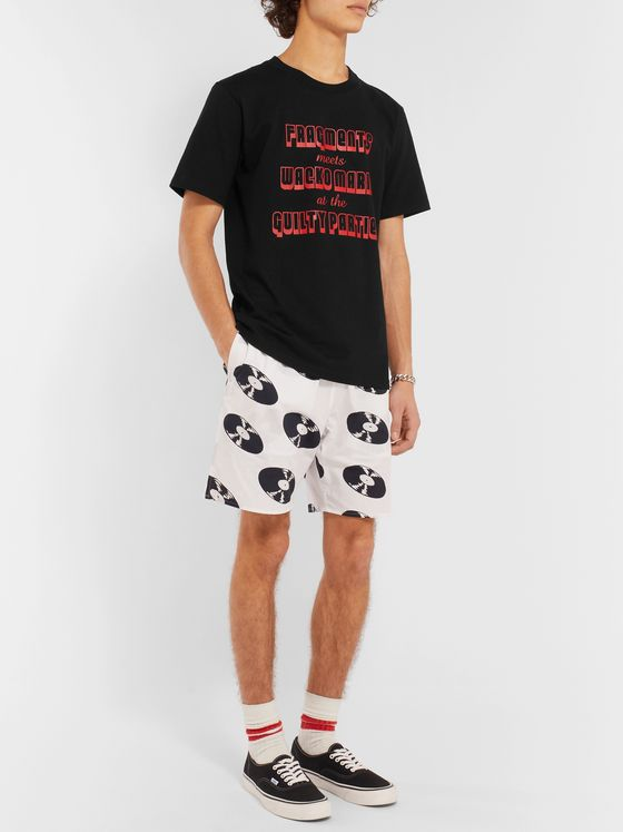Wacko Maria + Fragment Printed Cotton-Jersey T-Shirt