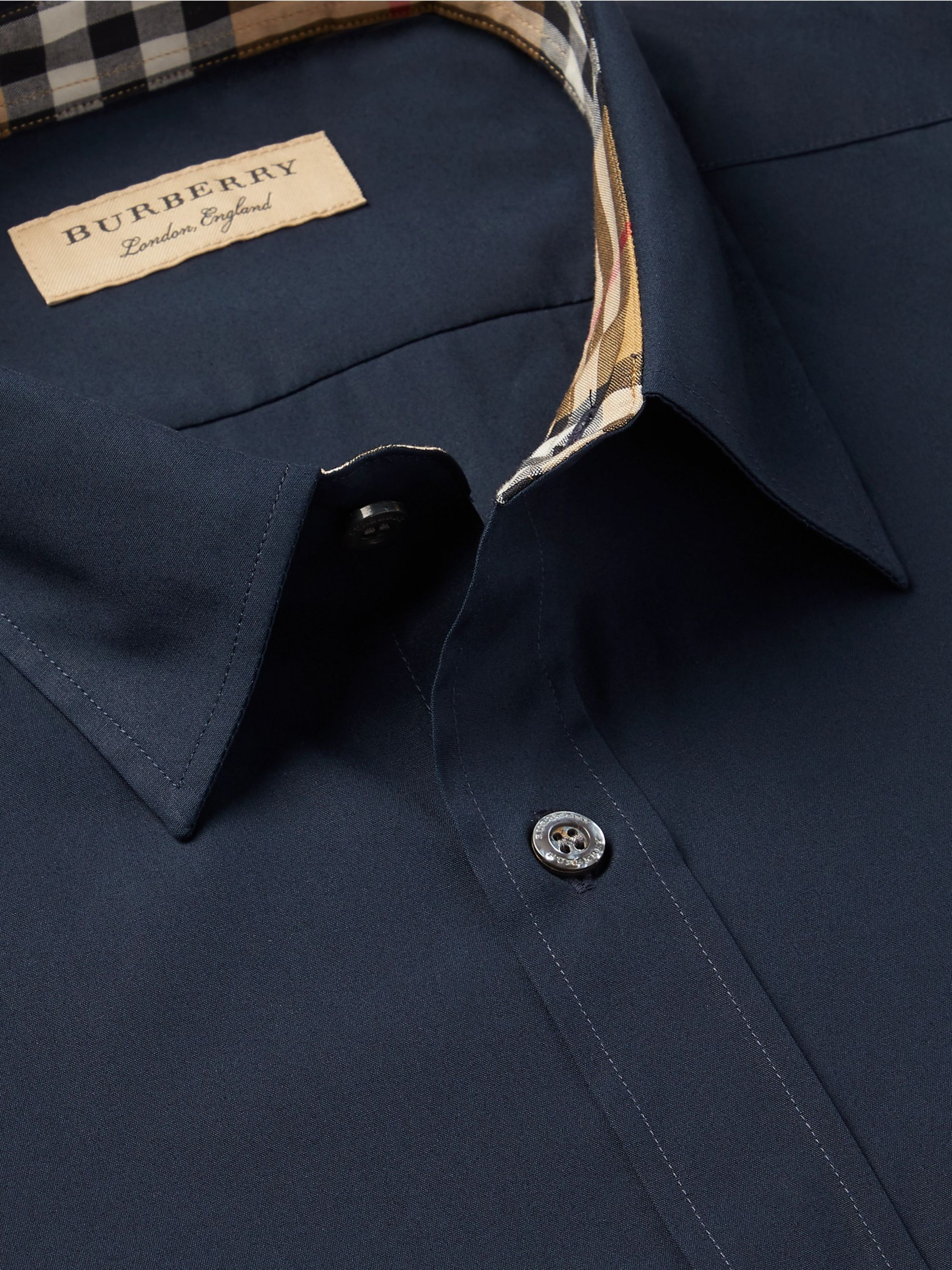 Burberry Cotton-Blend Poplin Shirt