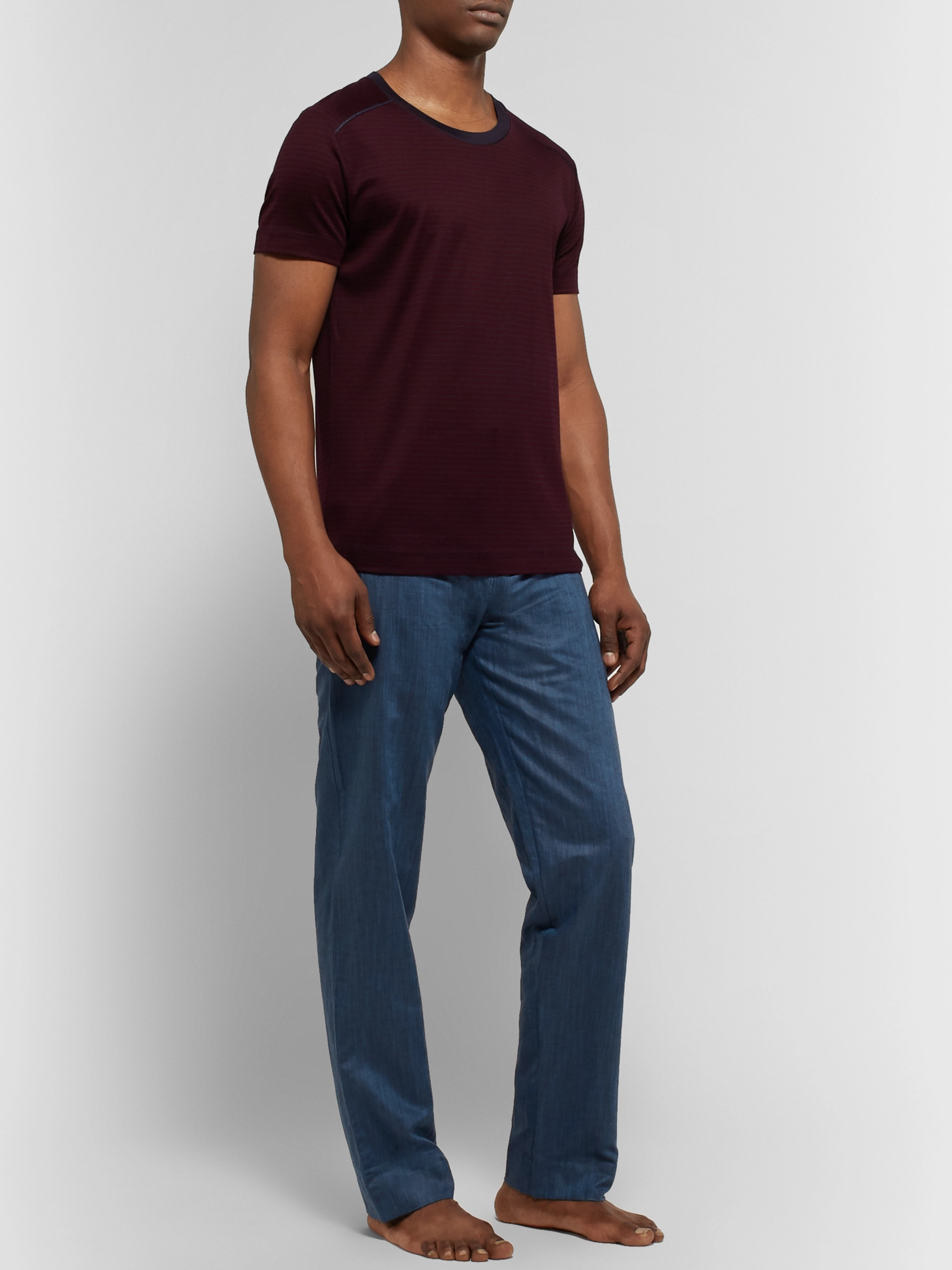 Zimmerli Slub Linen and Cotton-Blend Pyjama Trousers