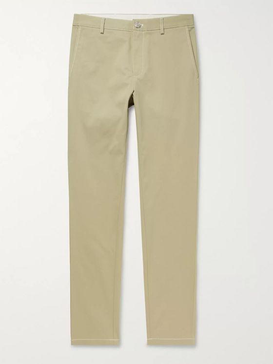 Burberry Slim-Fit Cotton-Twill Trousers