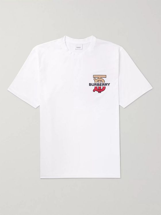 Burberry Logo-Detailed Cotton-Jersey T-Shirt