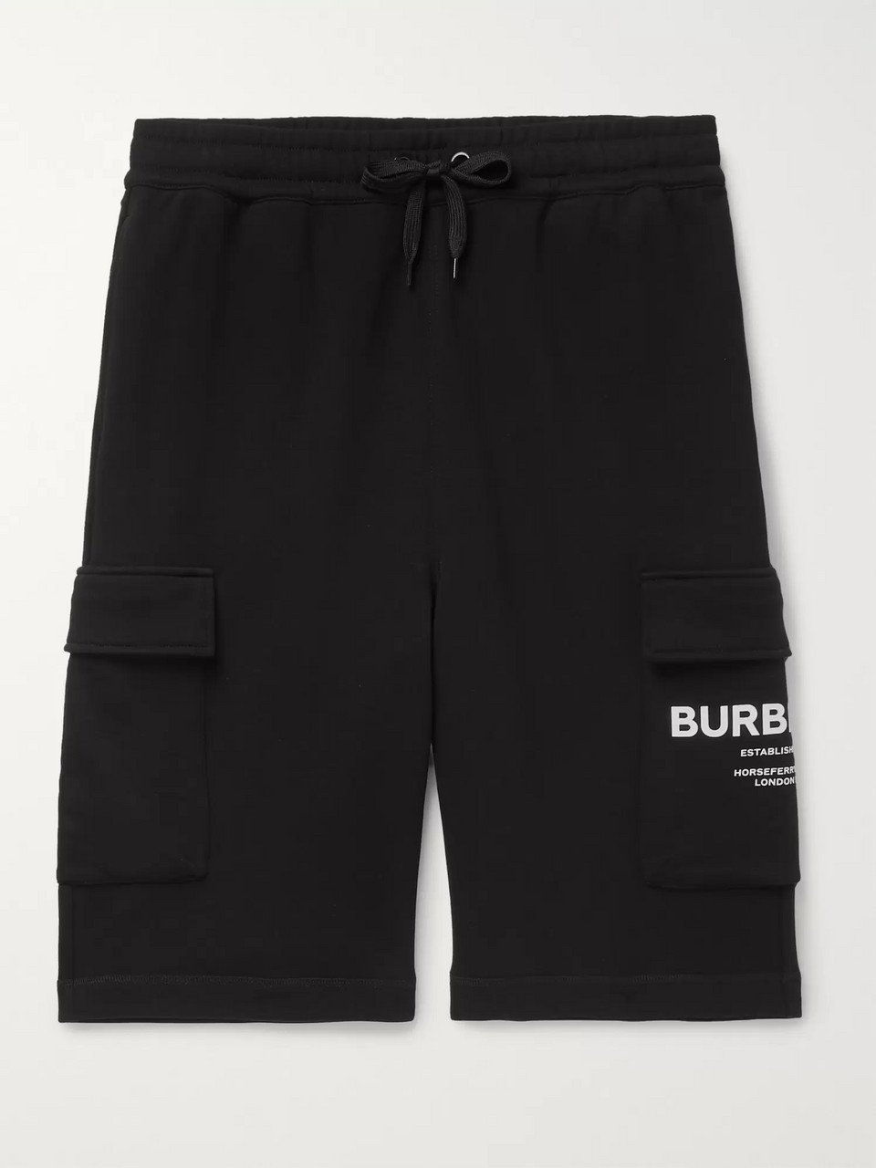Burberry Logo-Print Loopback Cotton-Jersey Cargo Shorts