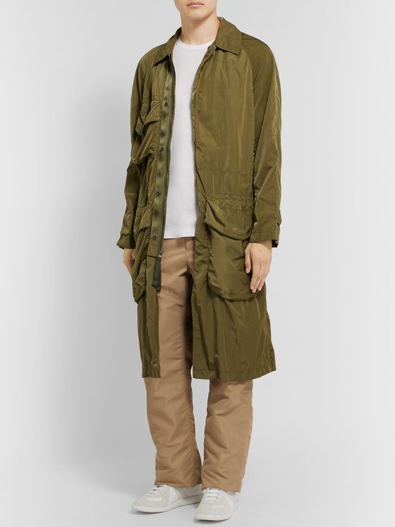 BURBERRY Panelled Cotton-Canvas and Nylon Trousers
