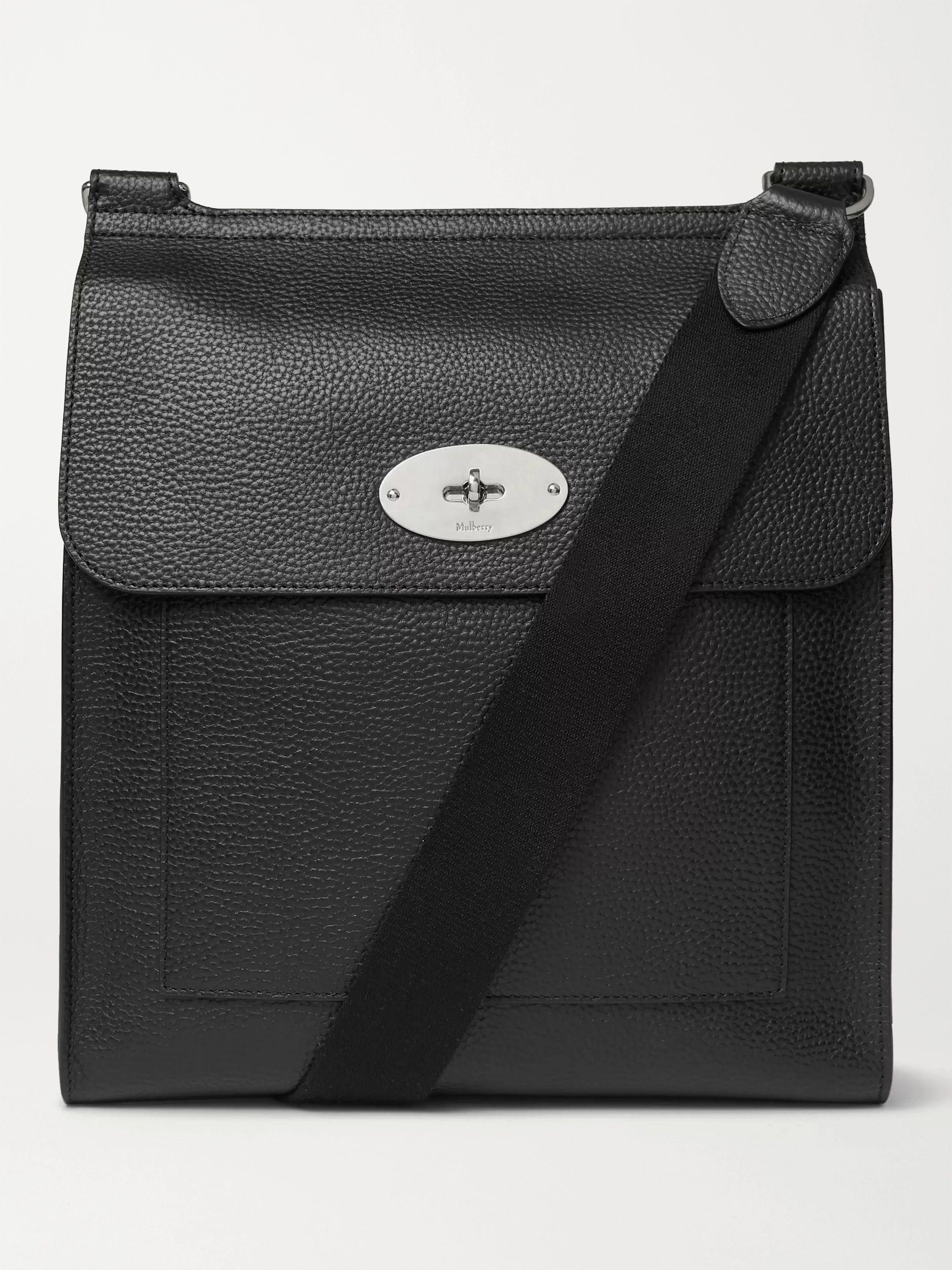 멀버리 메신저백 Mulberry Antony Full-Grain Leather Messenger Bag,Black