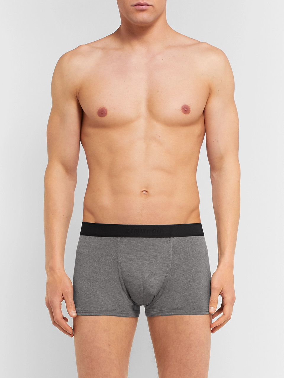 Zimmerli Mélange Stretch Modal-Blend Boxer Briefs