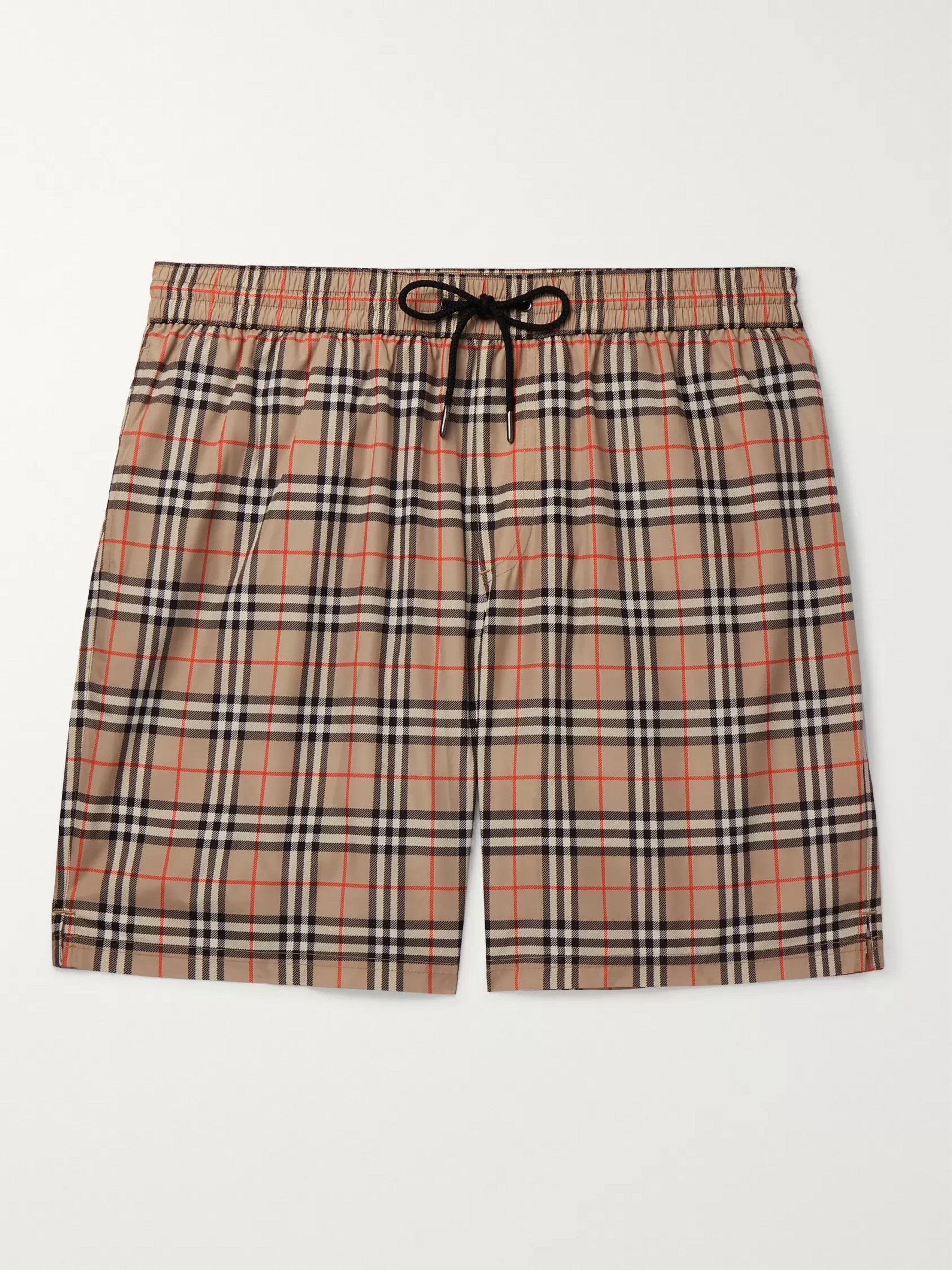 Burberry Long-Length Checked Swim Shorts