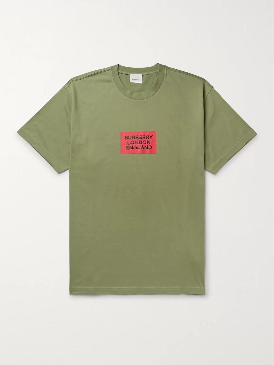 4046b59aab Burberry Oversized Logo-Print Cotton-Jersey T-Shirt