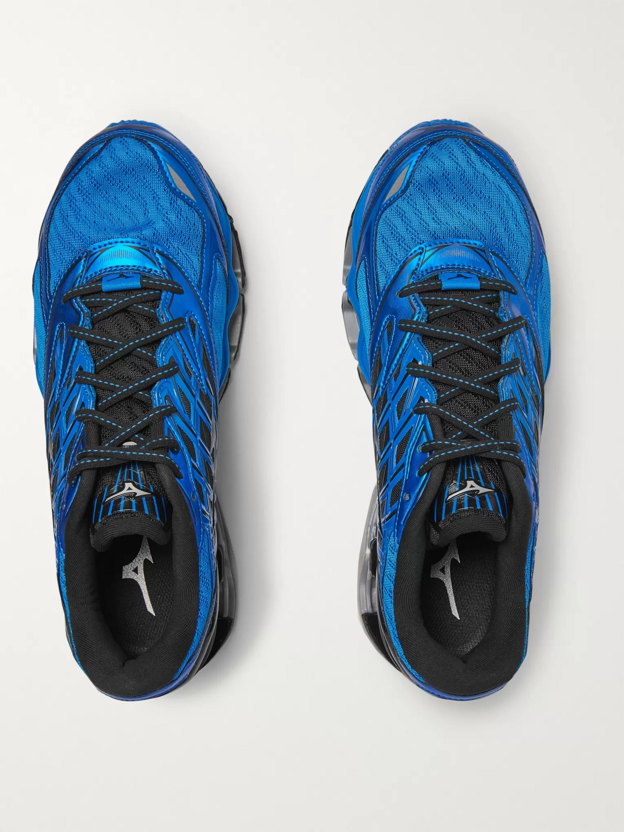 Mizuno Wave Prophecy 8 Rubber-Trimmed Mesh Running Sneakers