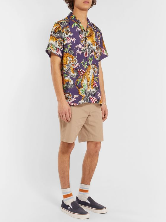 Wacko Maria + Tim Lehi Camp-Collar Printed Gauze Shirt