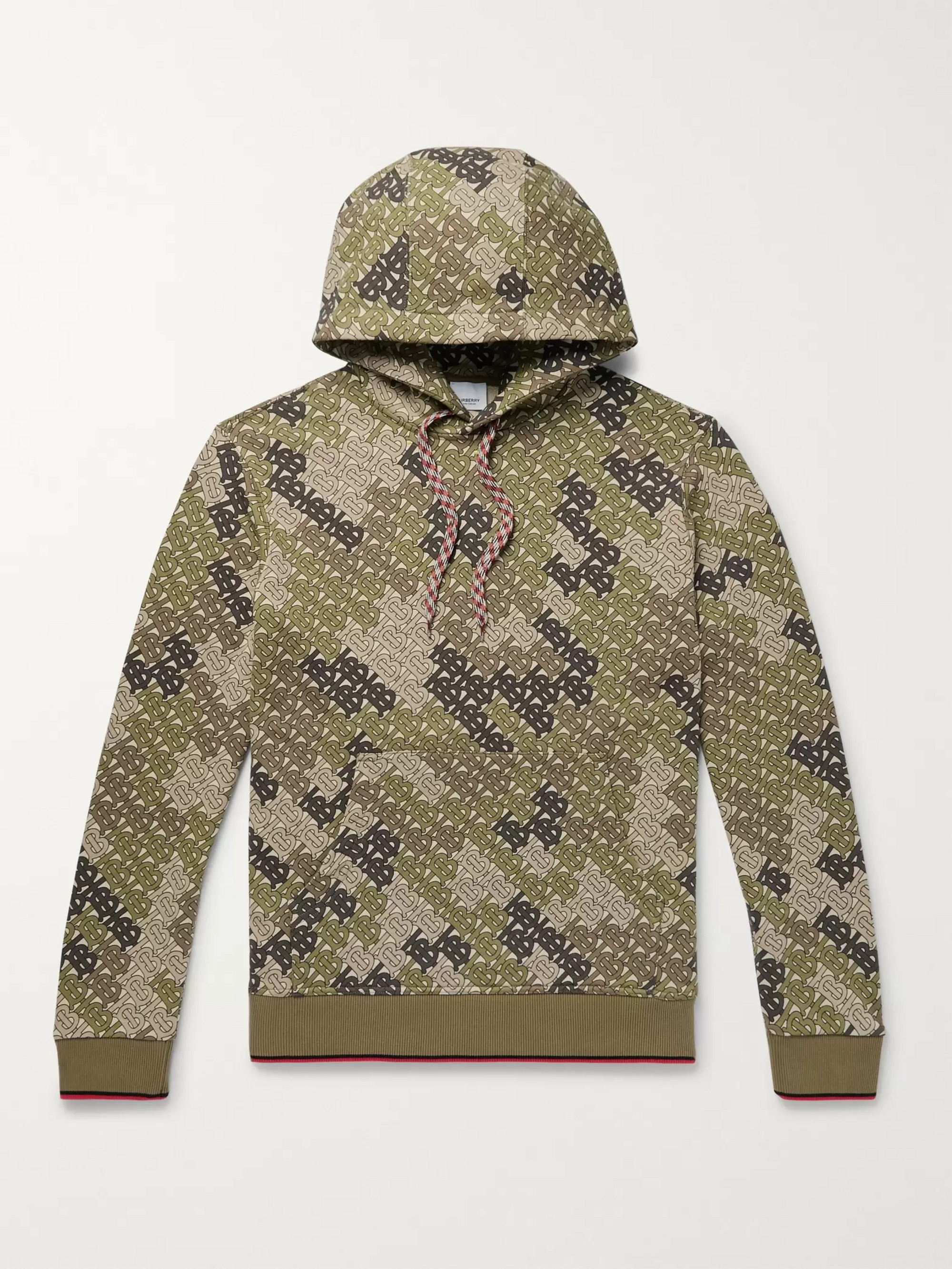 Burberry Logo-Print Cotton-Jersey Hoodie