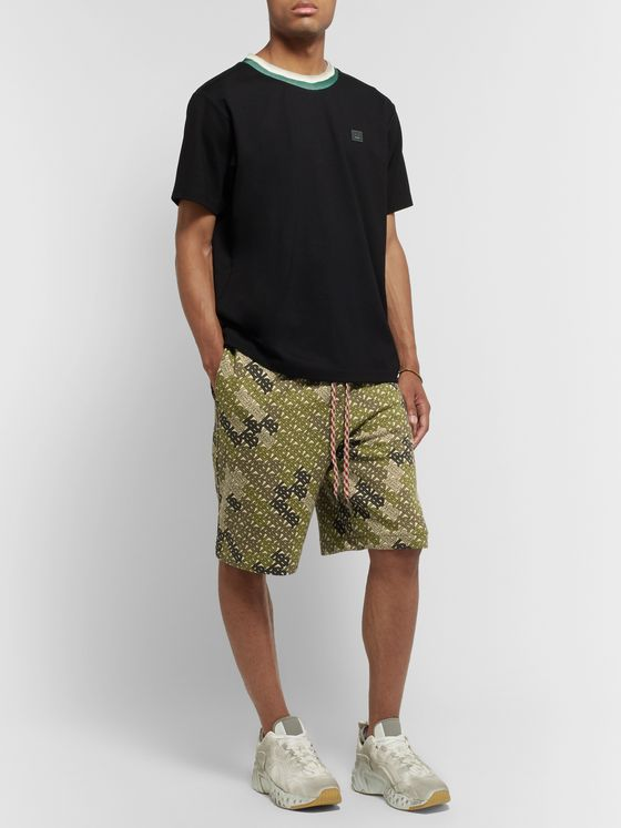 Burberry Logo-Print Cotton-Jersey Drawstring Shorts