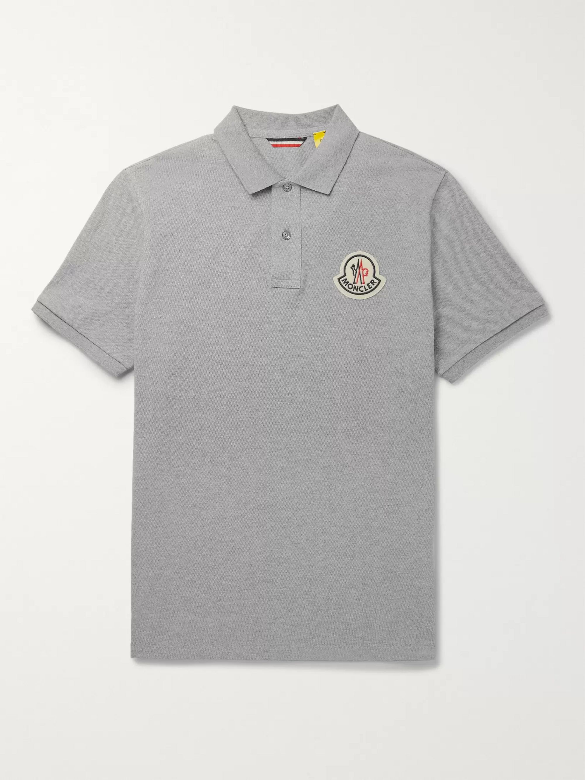 2 Moncler 1952 Logo Appliquéd Cotton Piqué Polo Shirt