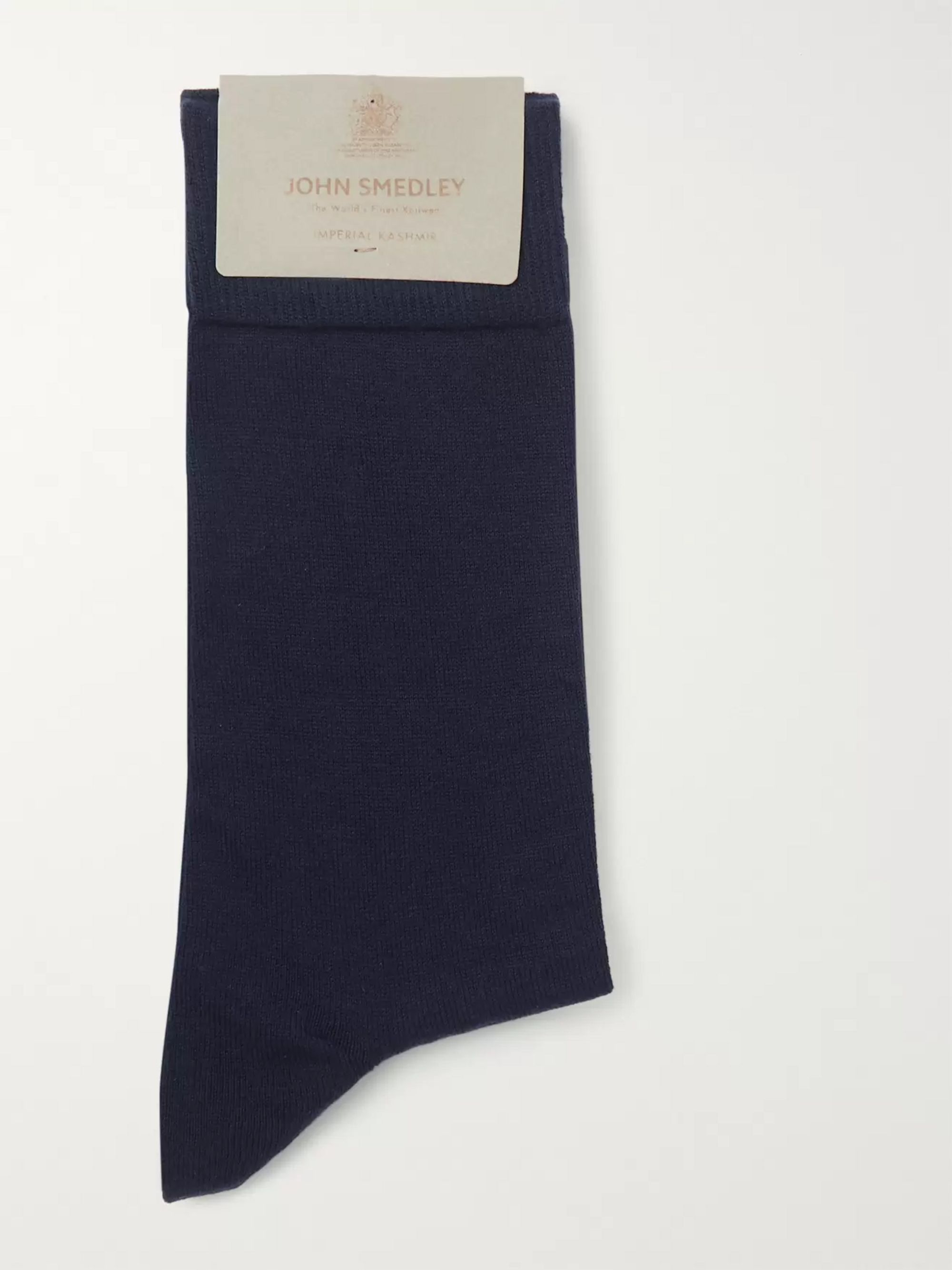 John Smedley Sea Island Cotton-Blend Socks