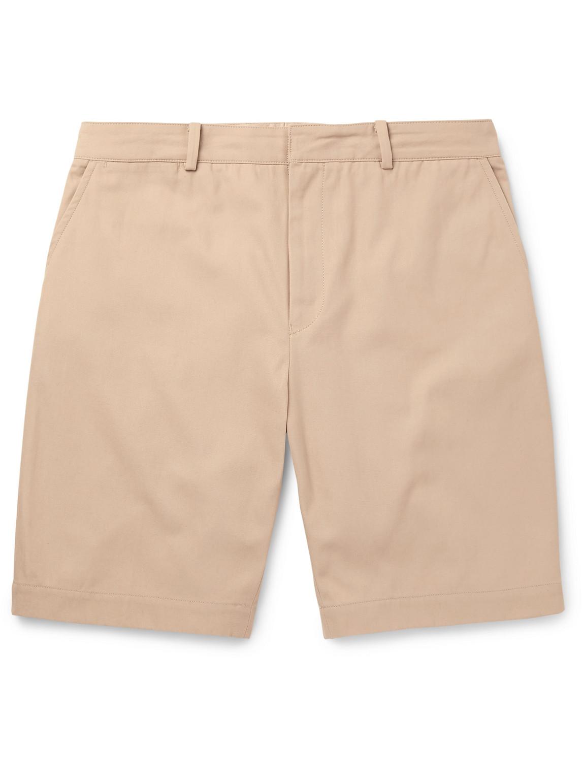 beams plus - kaptain sunshine cotton-twill shorts - men - neutrals - l