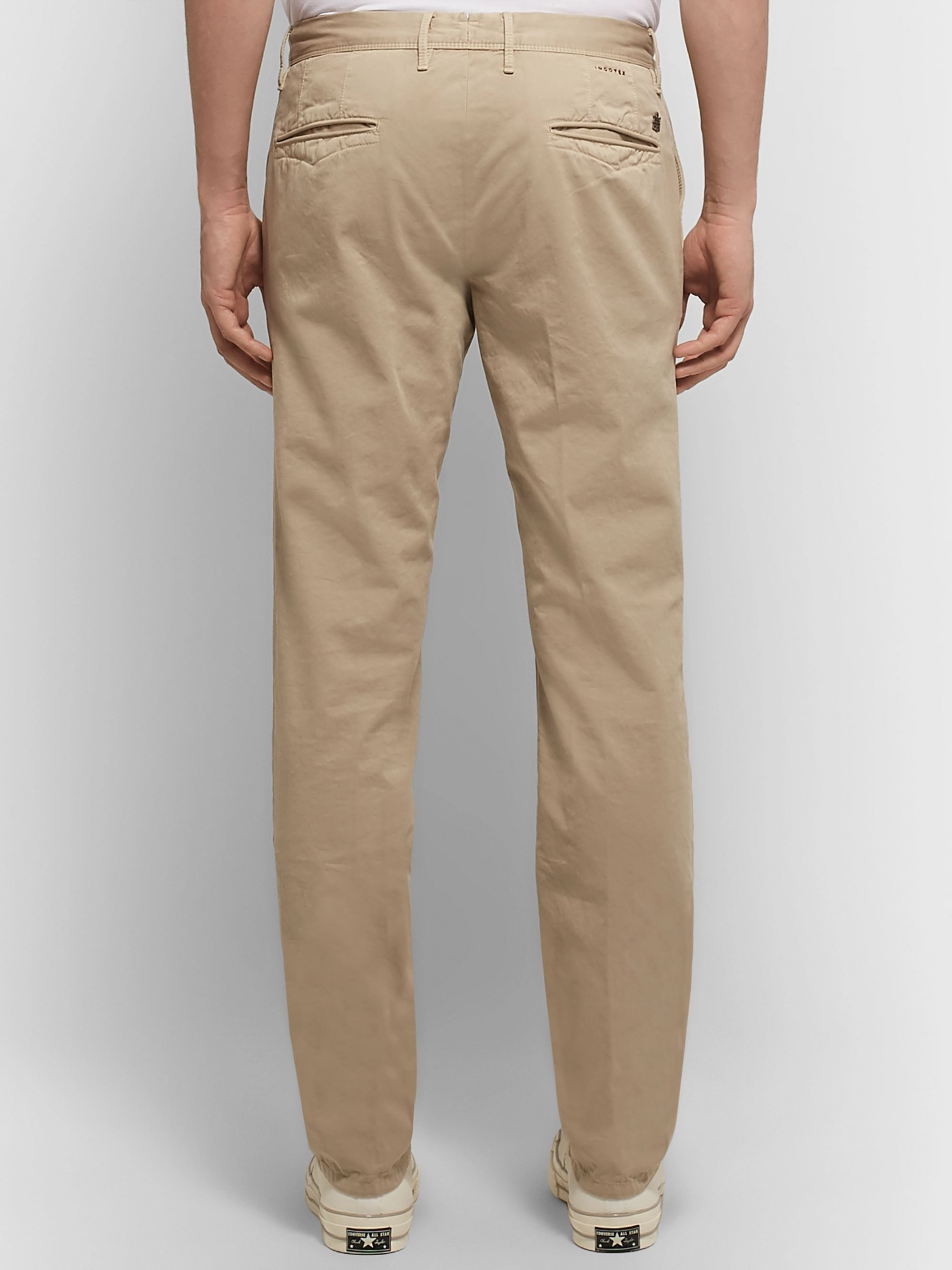 Incotex Slim-Fit Cotton-Twill Chinos