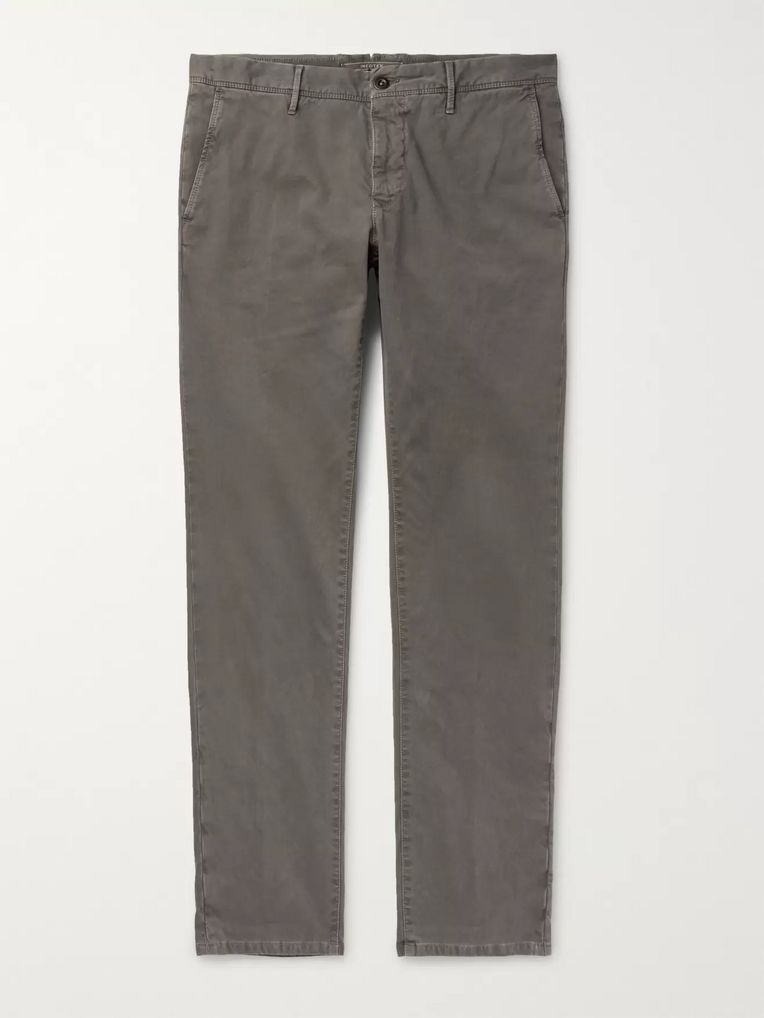 Incotex Slim-Fit Stretch-Cotton Corduroy Trousers