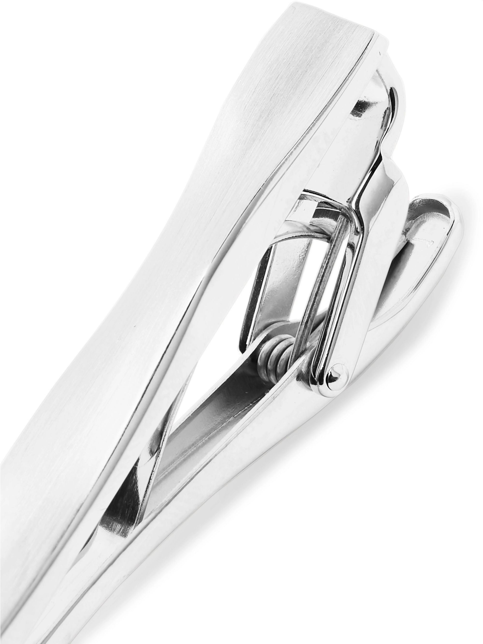 Lanvin Brushed Rhodium-Plated Tie Clip