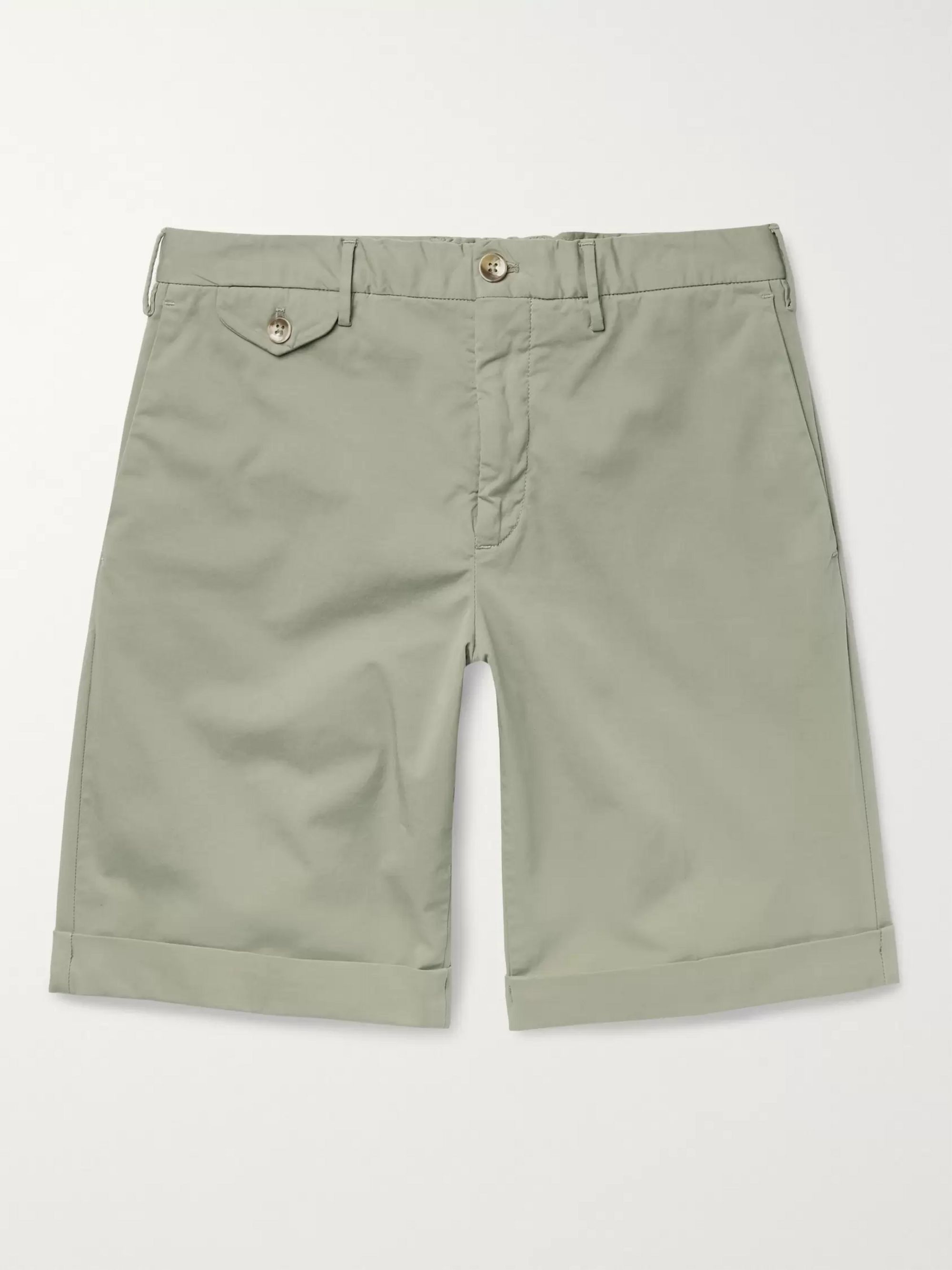 Incotex Slim-Fit Stretch-Cotton Twill Shorts