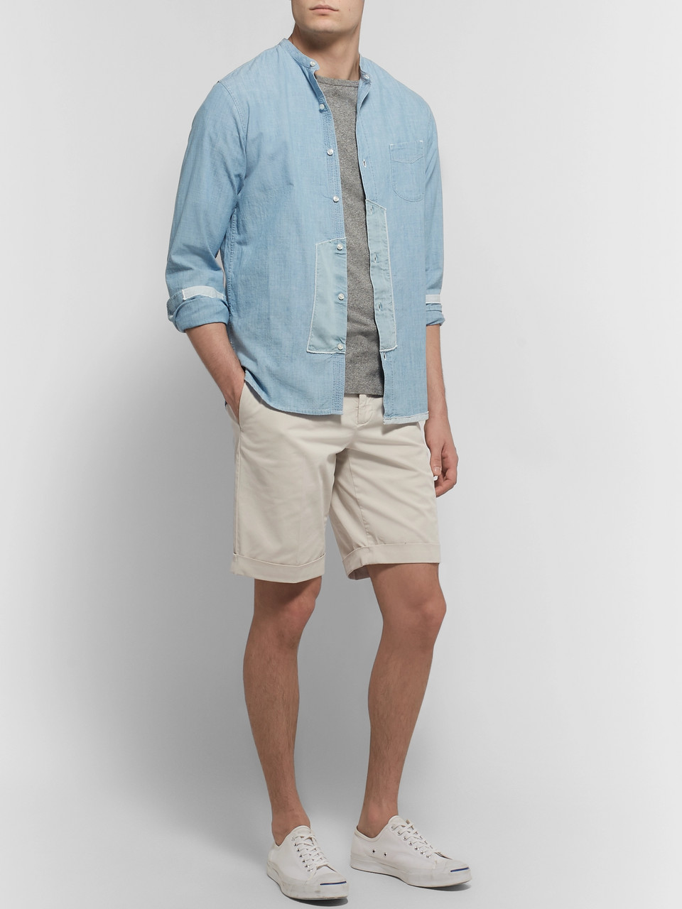 Incotex Slim-Fit Stretch-Cotton Gabardine Shorts