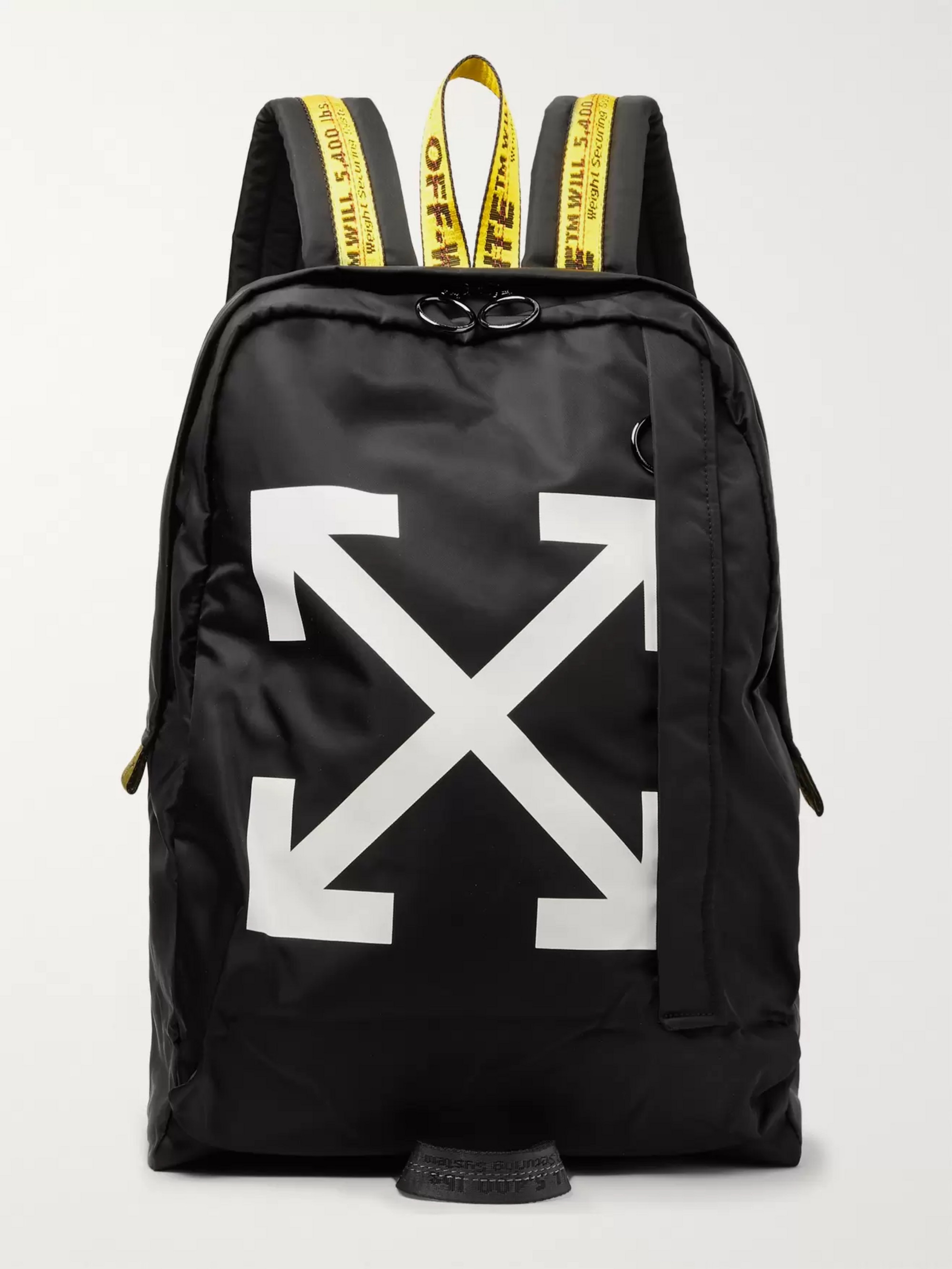Off-White Easy Logo-Print Canvas Backpack