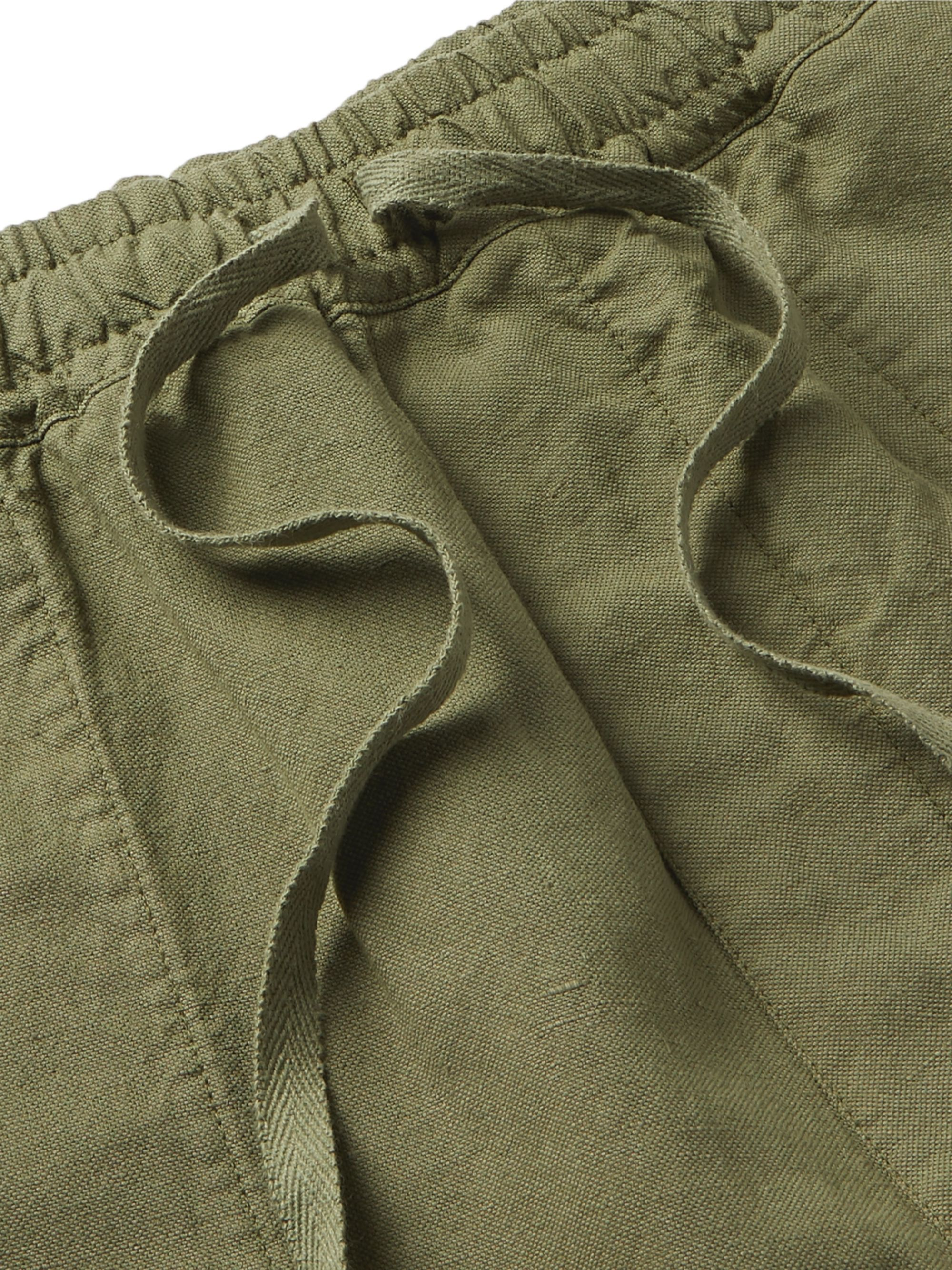 YMC Cotton and Linen-Blend Drawstring Shorts