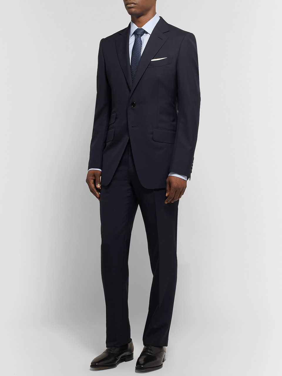 TOM FORD Navy O'Connor Slim-Fit Wool Suit Jacket