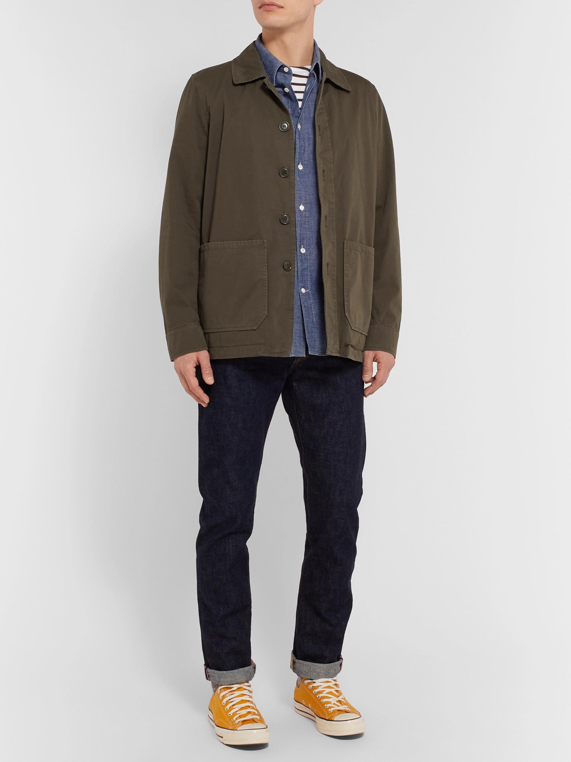8f0dd66d3 Garment-Dyed Cotton-Twill Shirt Jacket