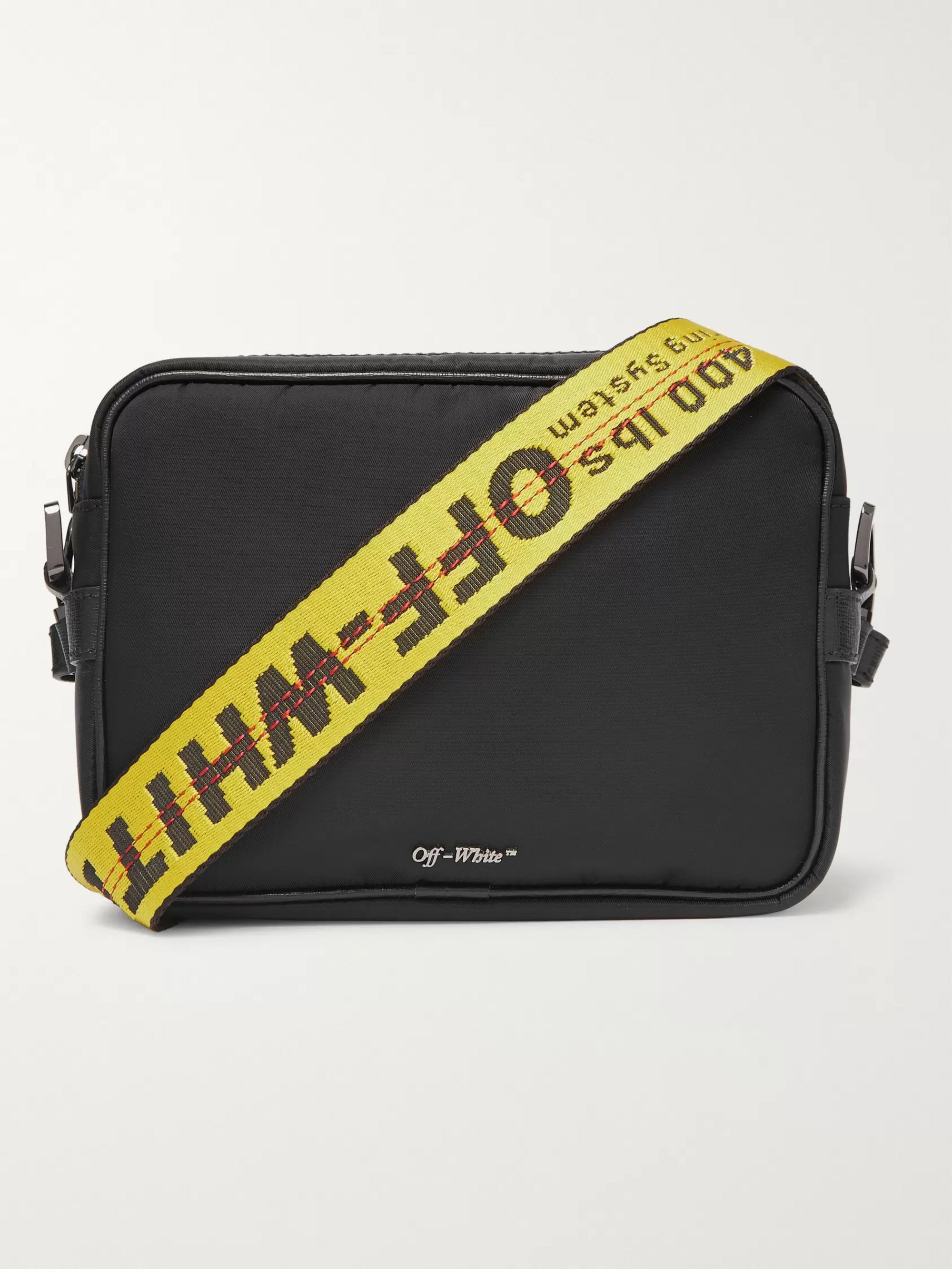 Off-White Logo-Jacquard Webbing and Shell Messenger Bag