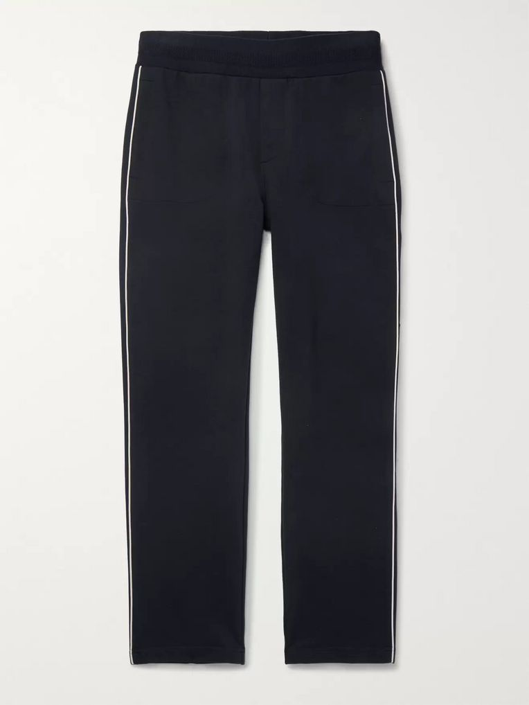 Moncler Striped Stretch-Cotton Jersey Sweatpants