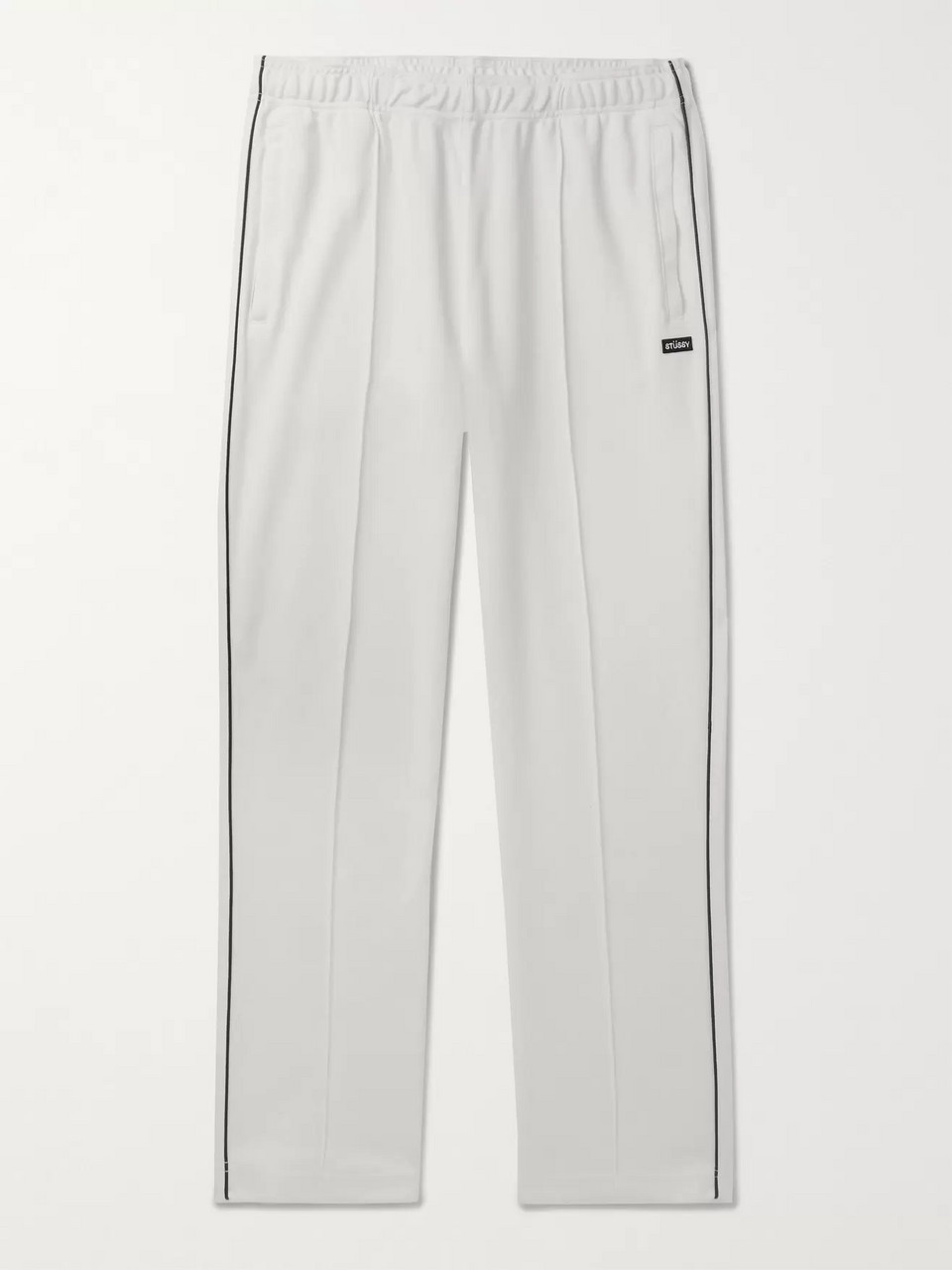 Stüssy Piped Cotton-Blend Piqué Sweatpants