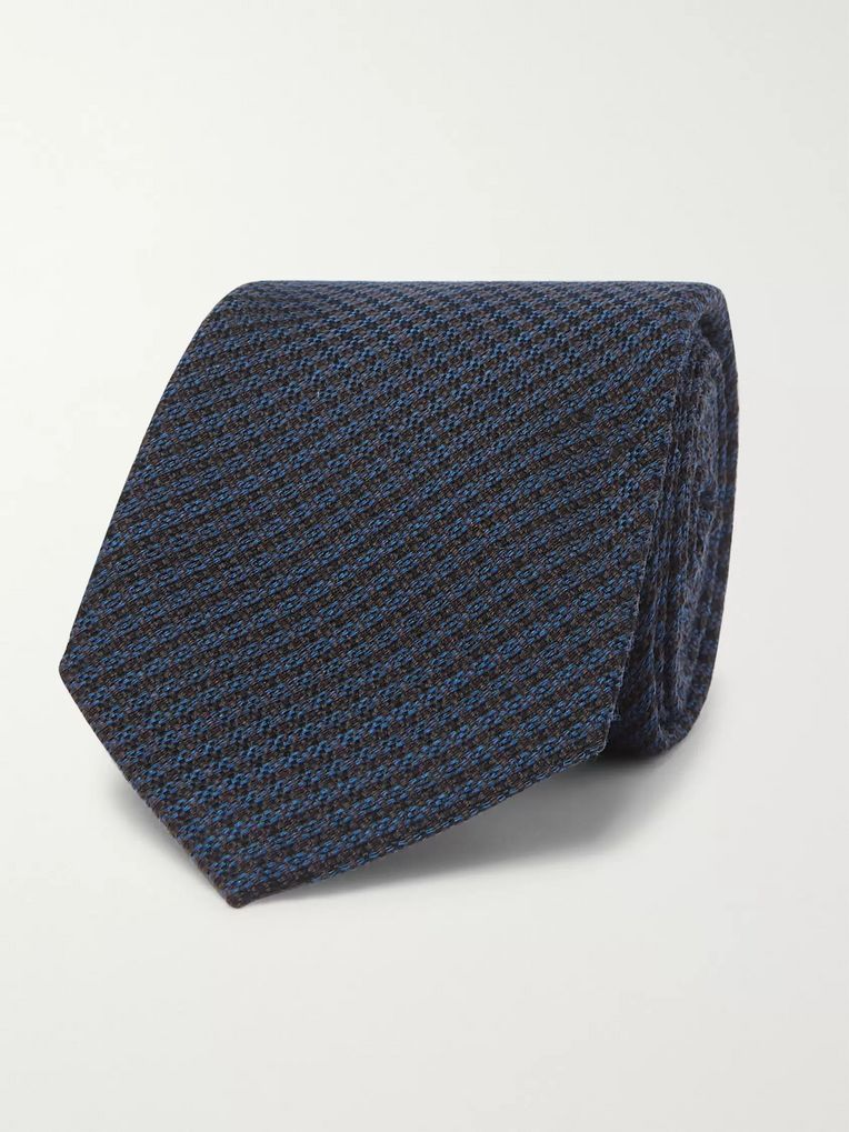 Berluti 6cm Checked Wool and Mulberry Silk-Blend Tie