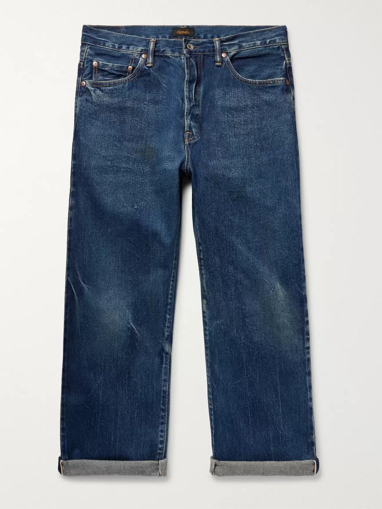Chimala Cropped Washed Selvedge Denim Jeans