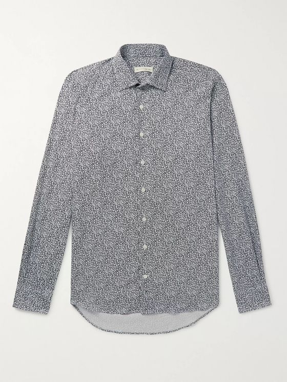 Etro Slim-Fit Paisley-Print Cotton-Twill Shirt