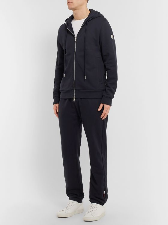 Moncler Loopback Cotton-Jersey Zip-Up Hoodie