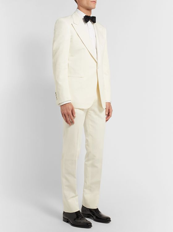 Kingsman Cotton, Linen and Silk-Blend Suit Trousers