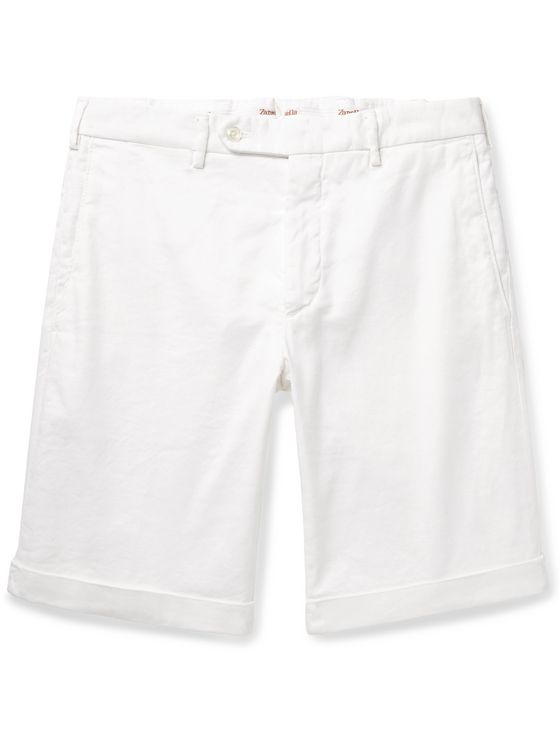 Zanella Chase Stretch-Linen and Cotton-Blend Twill Shorts