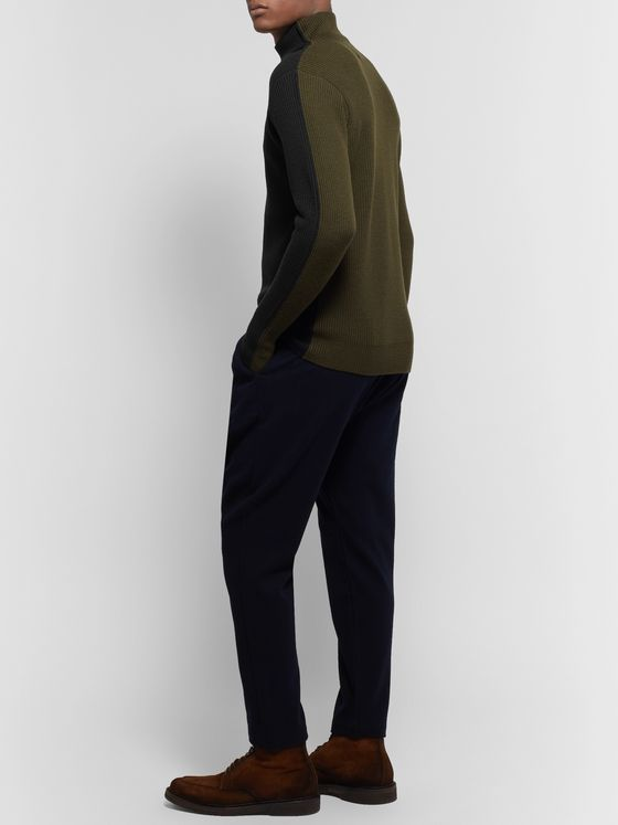 Barena Slim-Fit Colour-Block Virgin Wool Rollneck Sweater