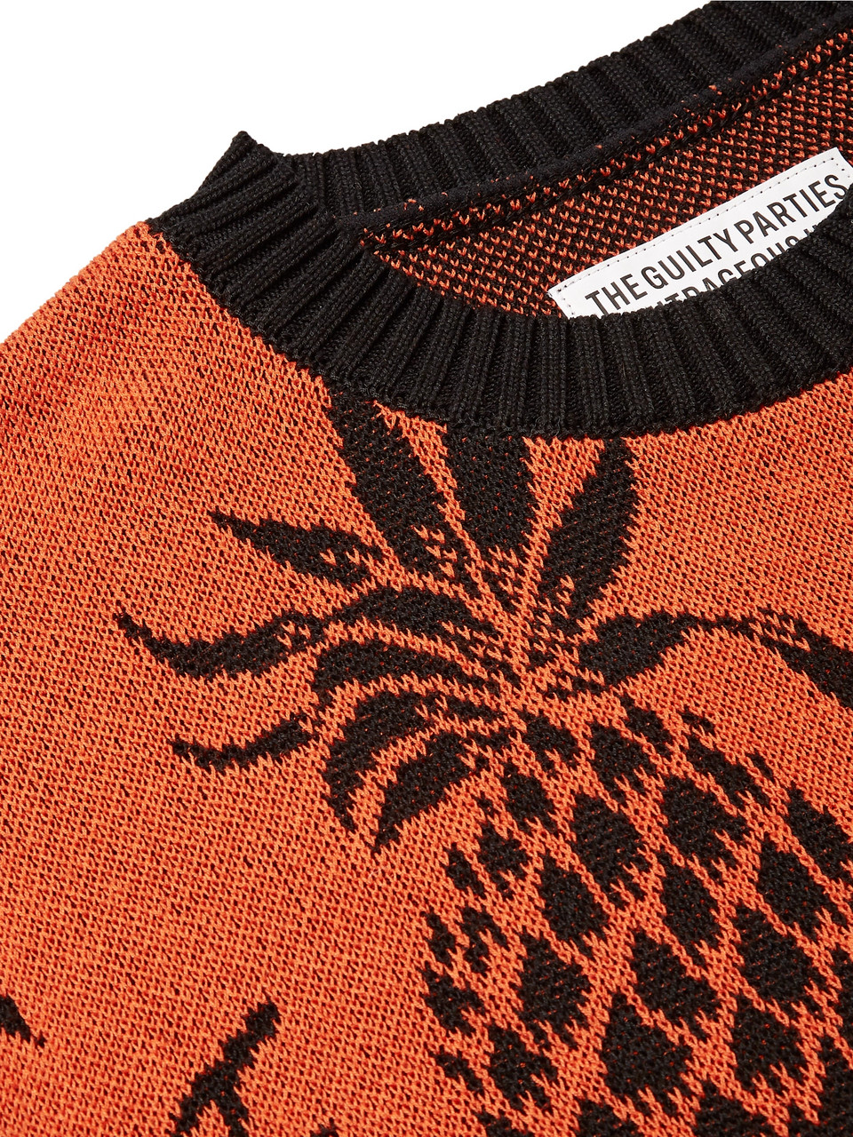 Wacko Maria Cotton-Jacquard Sweater