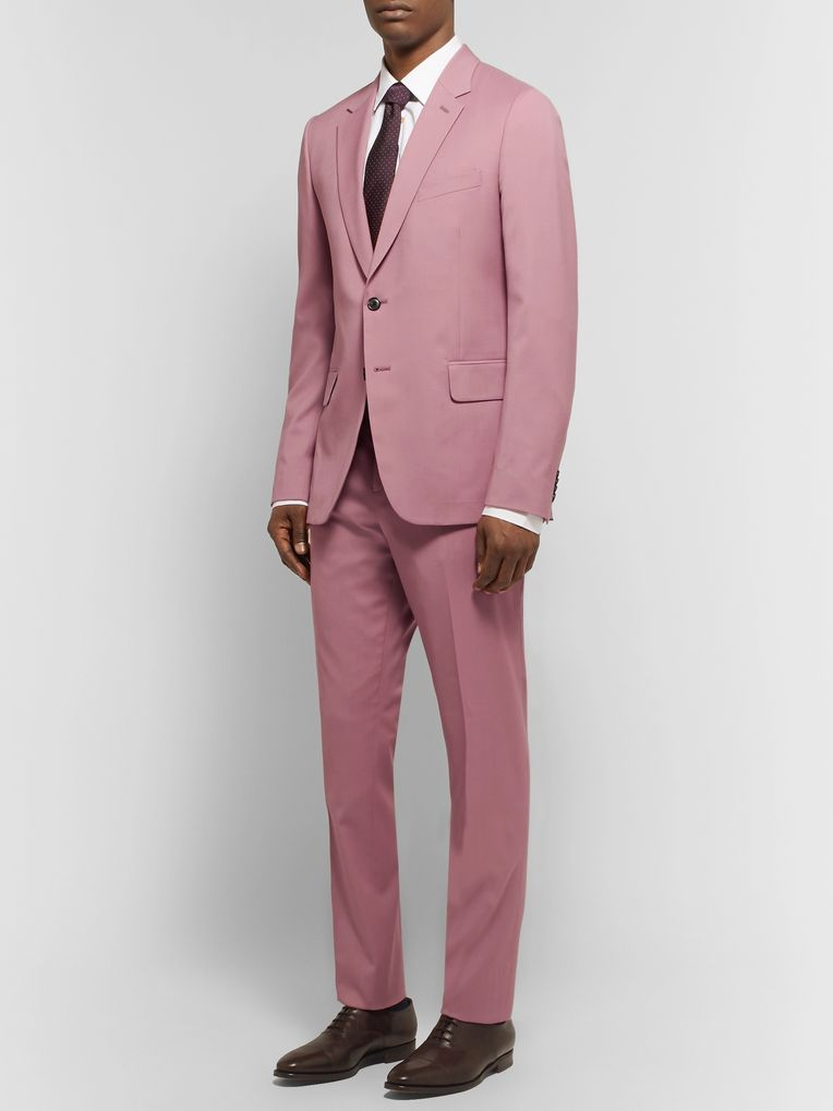 Paul Smith Dusty-Pink A Suit To Travel In Soho Slim-Fit Wool Suit Jacket
