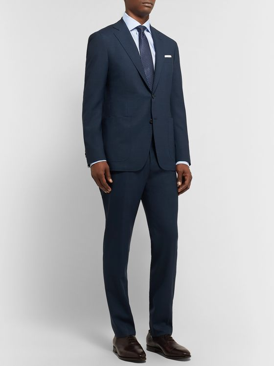 Canali Storm-Blue Kei Slim-Fit Unstructured Wool Suit Jacket